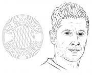 uefa champions league 2020 bayern robert lewandowski dessin à colorier