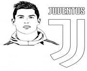 coloriage uefa champions league 2020 cristiano ronaldo fc juventus