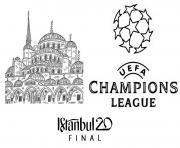uefa champions league 2020 final istanbul dessin à colorier