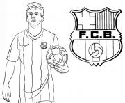 Coloriage uefa champions league 2020 lionel messi fc barcelona