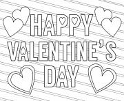 happy valentines day free love dessin à colorier