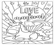Coloriage Lamour cest magique Love is magical
