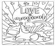 Coloriage chien cartoon avec des coeurs dessin