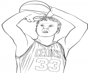 larry bird dessin à colorier