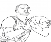 Coloriage paul george dessin