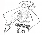 Coloriage kevin durant nba sport