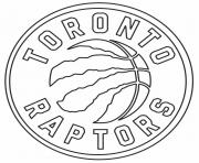 Raptors NBA Toronto Logo dessin à colorier