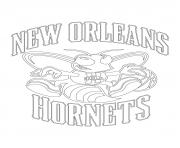 Coloriage new orleans hornets logo nba sport