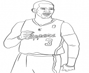 chris paul nba sport dessin à colorier
