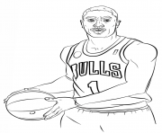 Coloriage derrick rose nba sport