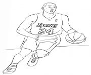 kobe bryant nba sport dessin à colorier