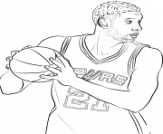 Coloriage tim duncan