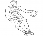 Coloriage klay thompson raptors toronto nba