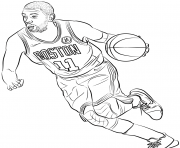 Coloriage kyrie irving