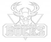 milwaukee bucks logo nba sport dessin à colorier