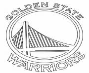 Coloriage nba teams logo golden state warriors