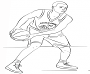 stephen curry nba sport dessin à colorier