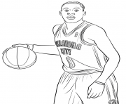russell westbrook dessin à colorier