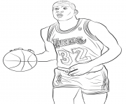 Coloriage magic johnson