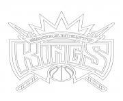 sacramento kings logo nba sport dessin à colorier