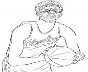 kareem abdul jabbar dessin à colorier