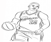 Coloriage lebron james nba sport