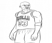 Coloriage michael jordan nba sport