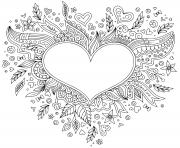 Coloriage dessin saint valentin 123 dessin