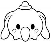 Dumbo Tsum Tsum Disney dessin à colorier