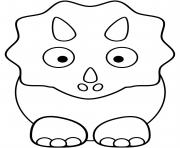 Coloriage Cute triceratops Baby