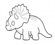 Coloriage Little Triceratops