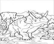 Triceratops dinosaure dessin à colorier