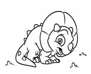 Coloriage Triceratops bebe