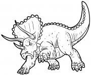 Triceratops pissed off dessin à colorier