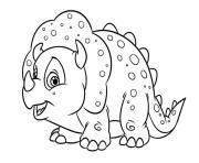 Coloriage adorable petit Triceratops