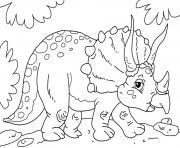 dinosaures herbivores dessin à colorier