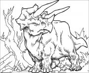 Coloriage Huge triceratops