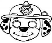 masque pat patrouille dessin à colorier