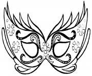 masque carnaval dessin à colorier