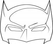 masque de batman dessin à colorier