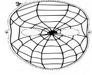 masque spiderman dessin à colorier