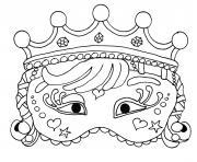 princesse masque carnaval dessin à colorier