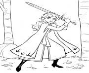 Anna with Sword dessin à colorier