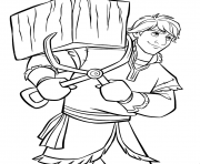 Coloriage Kristoff de Disney La Reine des neiges 2 to
