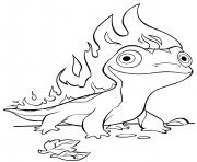 La Reine des neiges 2 Fire Salameter Bruni dessin à colorier
