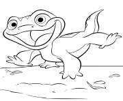 Coloriage Lizard Bruni de La Reine des neiges 2