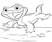 Lizard Bruni de La Reine des neiges 2 dessin à colorier
