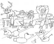 Funny La Reine des neiges 2 dessin à colorier
