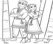 Coloriage La Reine des neiges 2 New Characters Honeymaren et Ryder