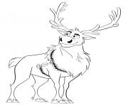Cute Reindeer Sven dessin à colorier